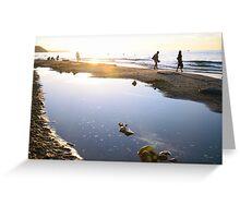 Sunset at a Sea Beach Greeting Card