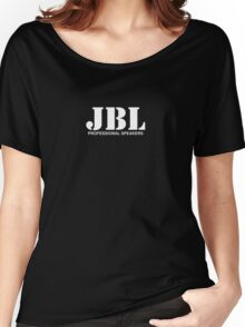 JBL white Women's Relaxed Fit T-Shirt