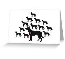 My Australian Cattle Dog Heart Belongs To You Greeting Card