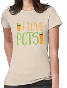 I LOVE POTS Womens Fitted T-Shirt