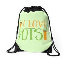 I LOVE POTS Drawstring Bag