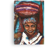 Carrying Basket Canvas Print