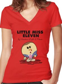 Little Miss Eleven Women's Fitted V-Neck T-Shirt