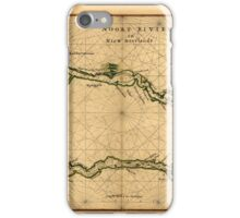 Map Of The Hudson River 1639 iPhone Case/Skin