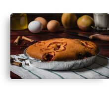 Cherry Cake with some ingredients Canvas Print