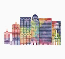 Louisville landmarks watercolor poster Kids Tee