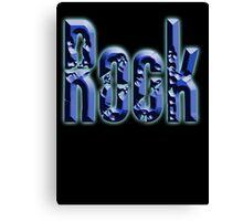 Rock, Rock & Roll Music, Rock it! Rock band, Rockers, on BLACK Canvas Print