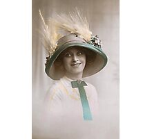 Edwardian lady in a picture hat Photographic Print