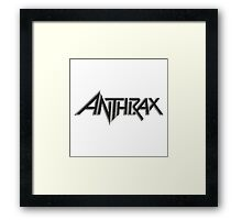 Anthrax Thrash Metal Framed Print