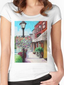 'Mainstreet, Blowing Rock' Women's Fitted Scoop T-Shirt