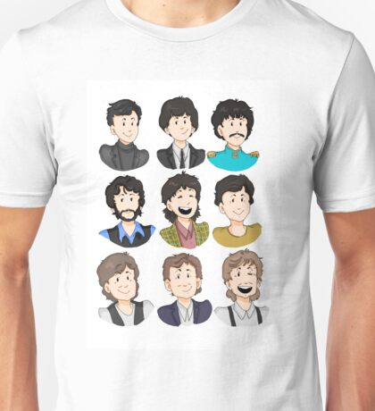 Paul McCartney through the years Unisex T-Shirt