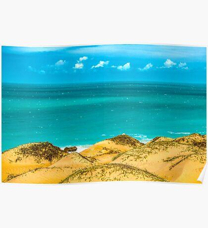 Dunes and Ocean Jericoacoara Brazil Poster