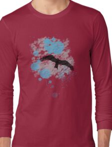 Bird In The Rain Long Sleeve T-Shirt