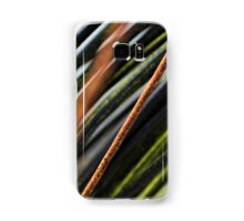 Abstract black, red and green urban photograph of coiled wire and wire fencing Samsung Galaxy Case/Skin