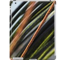 Abstract black, red and green urban photograph of coiled wire and wire fencing iPad Case/Skin