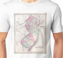 Vintage Map of New Jersey (1855) Unisex T-Shirt