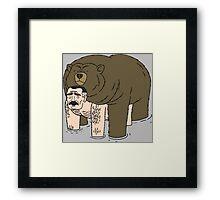 Ugly Americans - Jimmy Bear Hug Framed Print