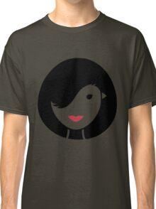 Bird & Girl Illusion Classic T-Shirt
