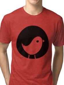 Bird & Girl Illusion Tri-blend T-Shirt
