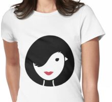 Bird & Girl Illusion Womens Fitted T-Shirt