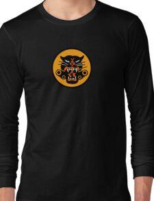 Vintage Oldsmobile WWII Tank Eating Tiger Long Sleeve T-Shirt