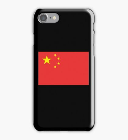 CHINA, CHINESE FLAG, Flag of China, China Flag, People's Republic of China, Pure & Simple iPhone Case/Skin