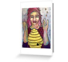 Praying With Bees Greeting Card