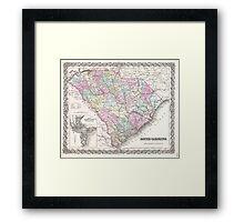 Vintage Map of South Carolina (1855) Framed Print