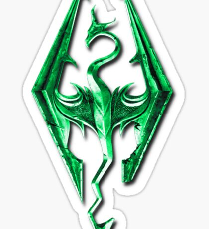 Skyrim Green Glass Sticker