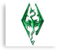 Skyrim Green Glass Canvas Print
