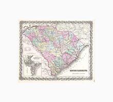 Vintage Map of South Carolina (1855) Unisex T-Shirt