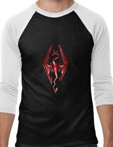 Skyrim - Red Men's Baseball ¾ T-Shirt