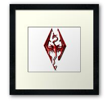 Skyrim - Red Framed Print