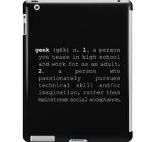 Geek Definition iPad Case/Skin