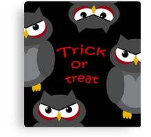 Trick or treat - owls   Canvas Print