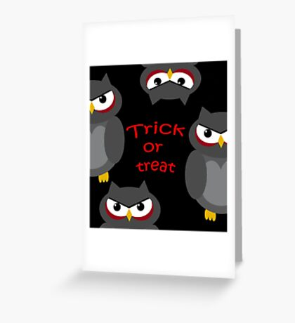 Trick or treat - owls   Greeting Card