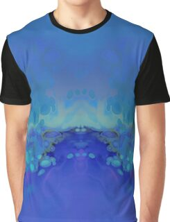 Abstract Blue Green Graphic T-Shirt