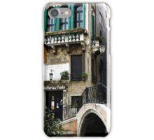 Bridge to the trattoria, Venice,Italy iPhone Case/Skin