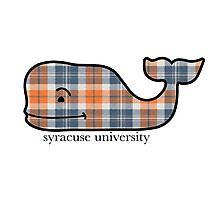 Syracuse Plaid Vineyard Vines Whale  Photographic Print