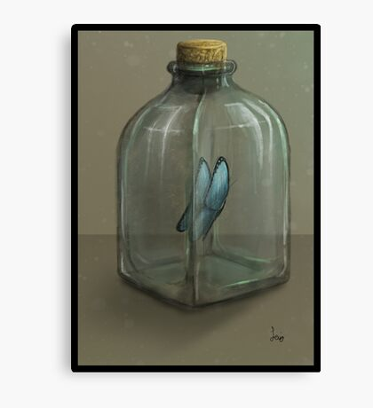 Butterfly in a Jar Canvas Print