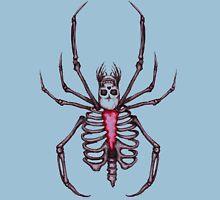Black Widow Spider Skeleton Unisex T-Shirt