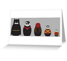 Nesting Bats Greeting Card