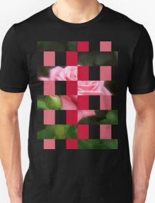 Pink Roses in Anzures 3 Art Rectangles 15 Unisex T-Shirt