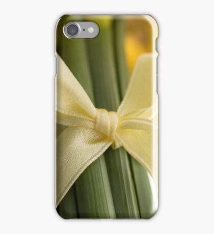 Ribbon Tied Daffodils iPhone Case/Skin