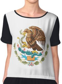 Coat of Arms of Mexico Chiffon Top