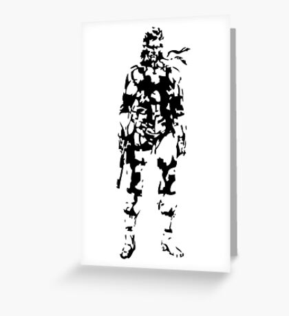 Metal Gear Solid - Solid Snake Greeting Card