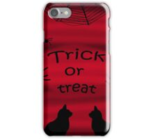 Trick or treat - black cats iPhone Case/Skin