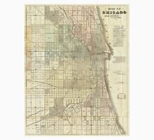 Vintage Map of Chicago (1857) Unisex T-Shirt