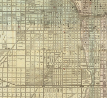Vintage Map of Chicago (1857) Sticker