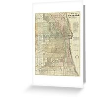 Vintage Map of Chicago (1857) Greeting Card